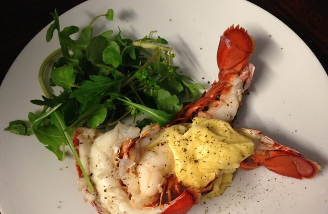 Lobster tails with mayonnaise